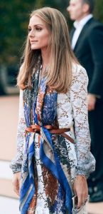 Olivia Palermo with scarf