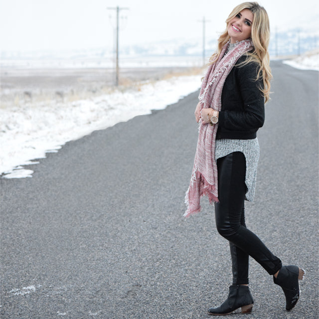 Rosey Blanket Scarf