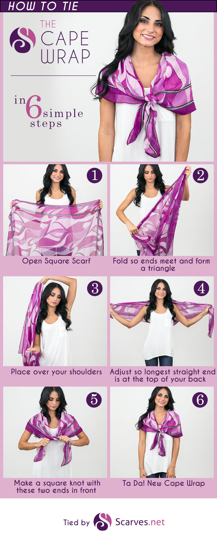 The Cape Wrap in 6 simple steps