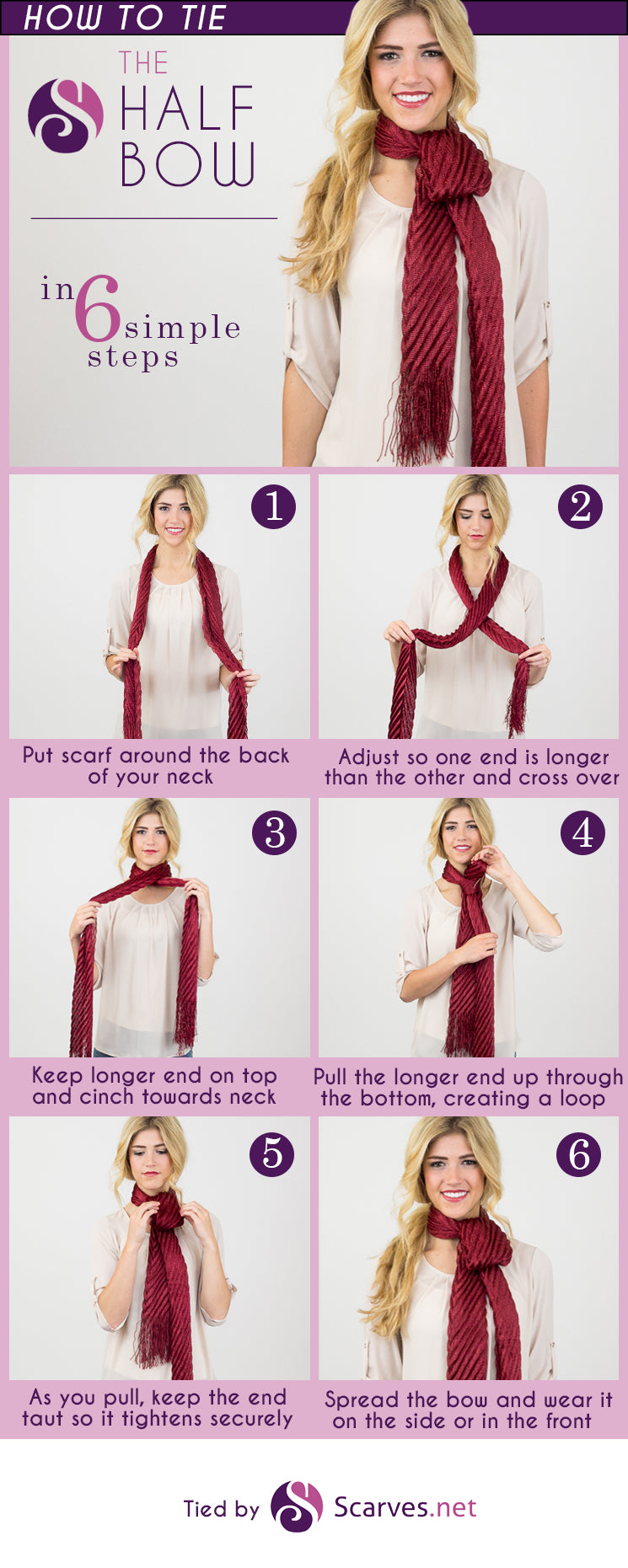 The Half Bow Knot in 6 simple steps