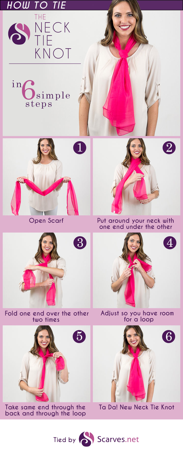 Neck Tie Knot in 6 simple steps