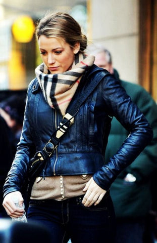 blake lively with burberry scarf