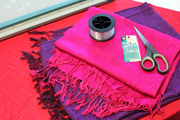 supplies for the Ombre Scarf Chandelier