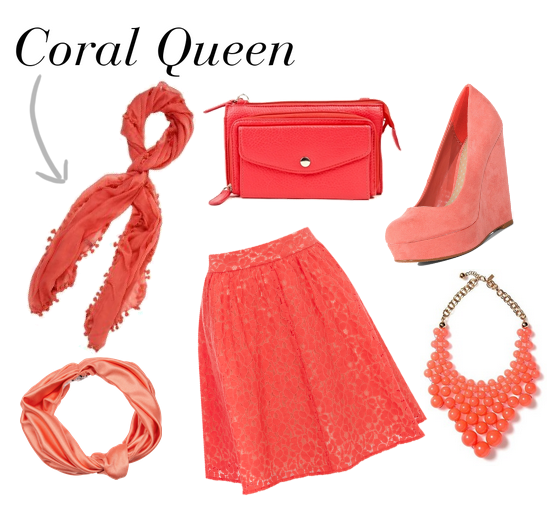 Outfit and accessories for the Coral Queen Look