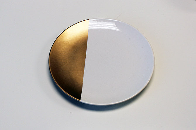 drying the gold-dipped plate