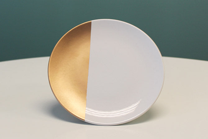 finished gold-dipped plate