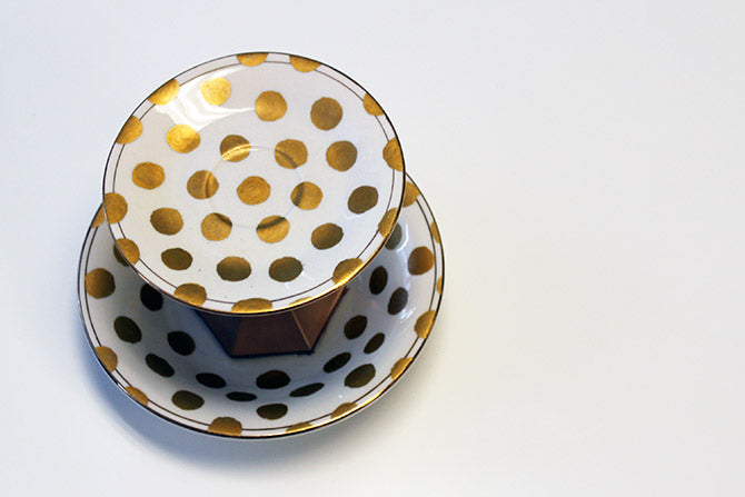 polka dot plate decoration piece