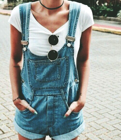 girl in overalls