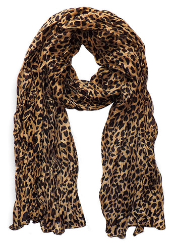 Leopard Crinkle Scarf