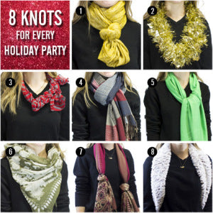 holiday scarf knots