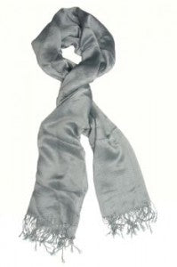 solid color gray scarf