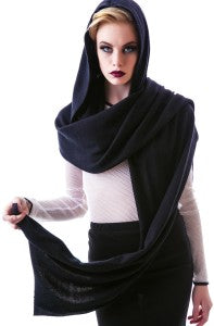 window hooded scarf