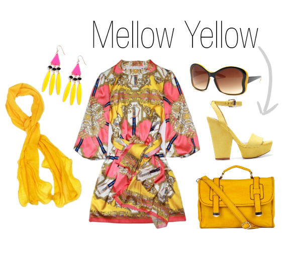 Outfit and accessories for the Mellow Yellow Look