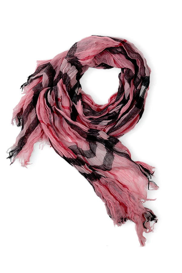 Addison Plaid Scarf Pink