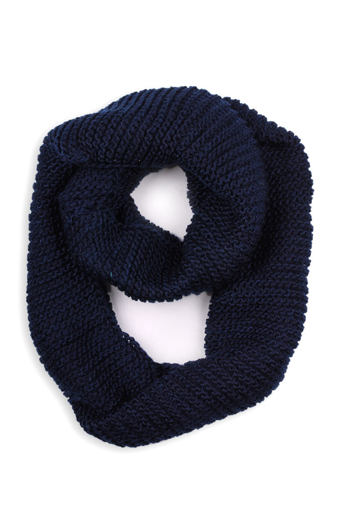 Alex Knit Infinity Scarf Navy
