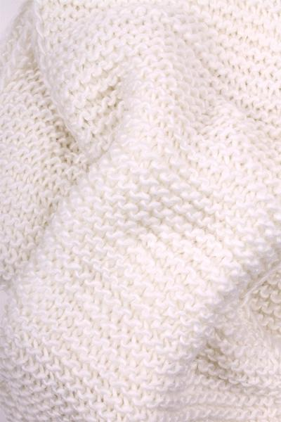 Alex Knit Infinity Scarf White