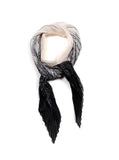 Ali Small Pleated Chiffon Scarf Black