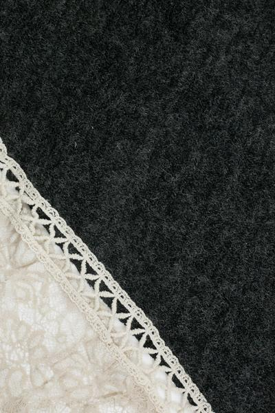Aurelia Lace Trim Scarf Black
