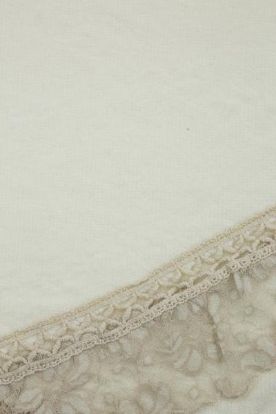 Aurelia Lace Trim Scarf Cream
