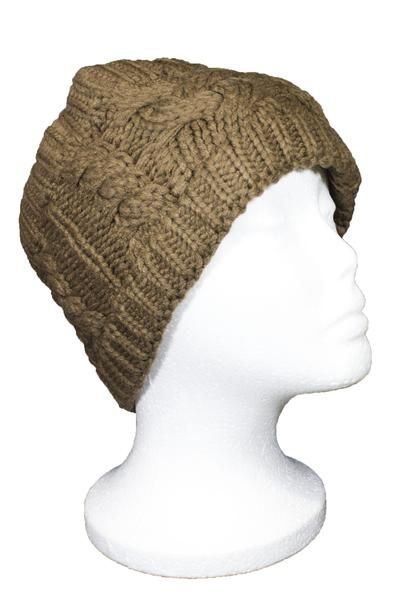 Beckham Cable Knit Headband Brown