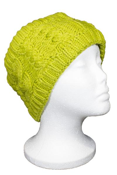 Beckham Cable Knit Headband Green