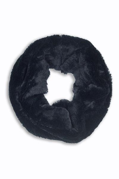 Betty Fur Muffler Black