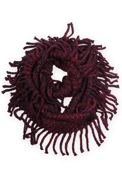 Brenna Winter Scarf Red / Navy