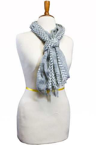 Camber Chevron Scarf Grey
