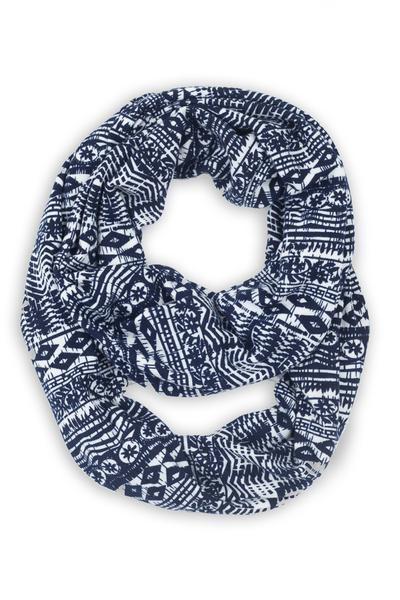 Candace Nordic Infinity Scarf Blue
