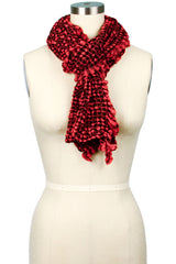 Cecilia Plaid Knit Ruffle Scarf