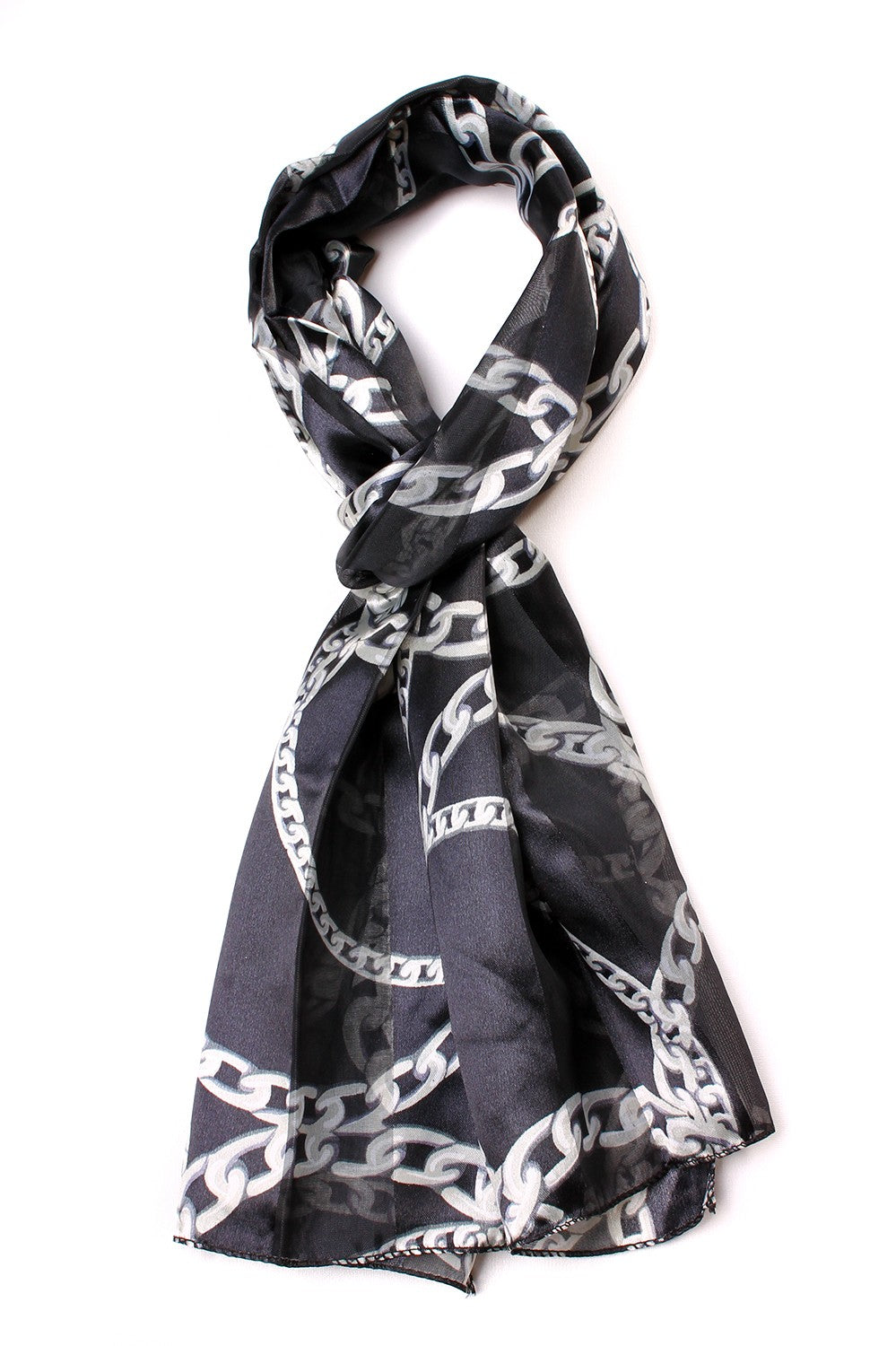 Chain Link Scarf Black