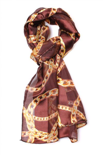 Chain Link Scarf Brown