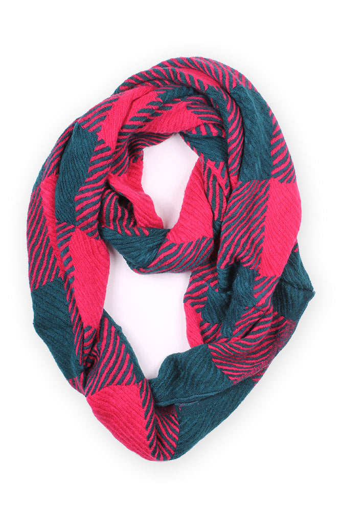Charity Infinity Scarf Red Multi