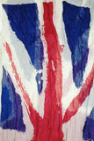 Crystal Painted British Flag Scarf White Multi Open