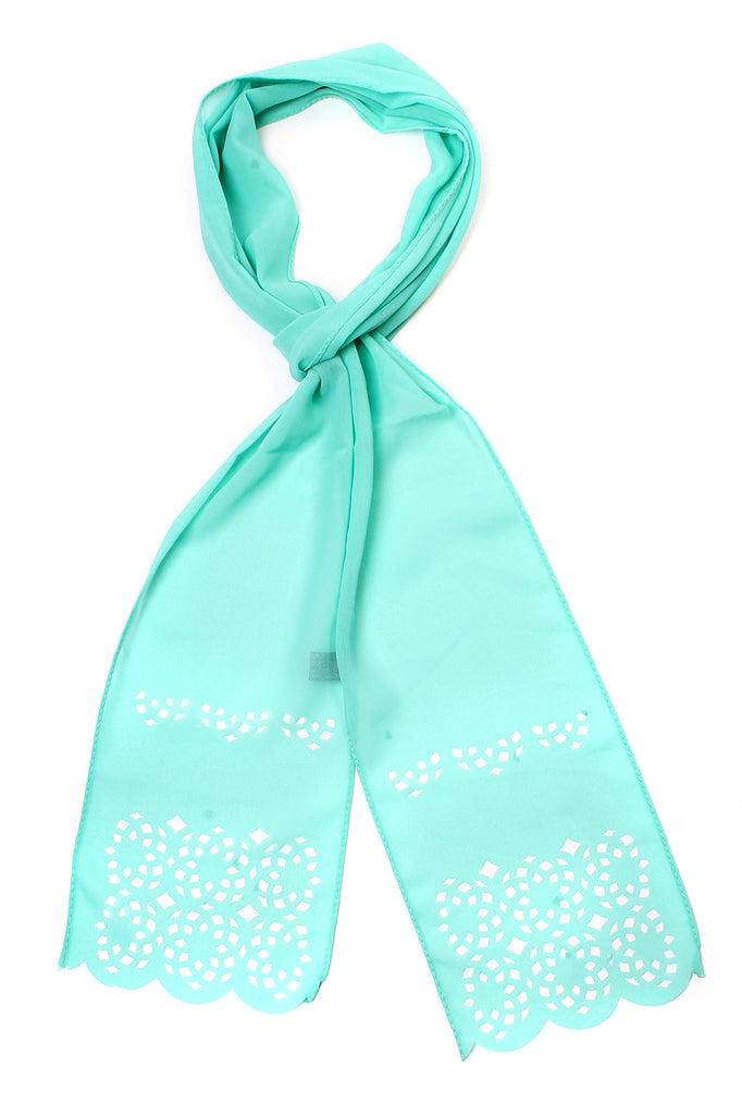 Cut It Out Scarf Mint