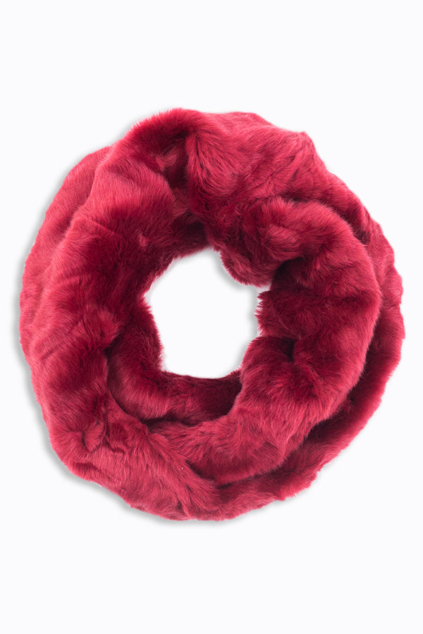 Esther Fur Neck Cozy Burgundy