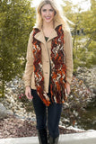 Felicia Chunky Scarf Brown With Model
