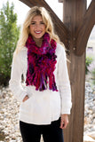 Felicia Chunky Scarf Fuschia With Model