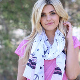 Frankie Anchor Scarf Black With Model