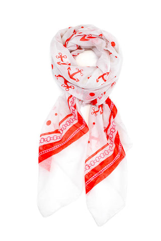 Frankie Anchor Scarf Red