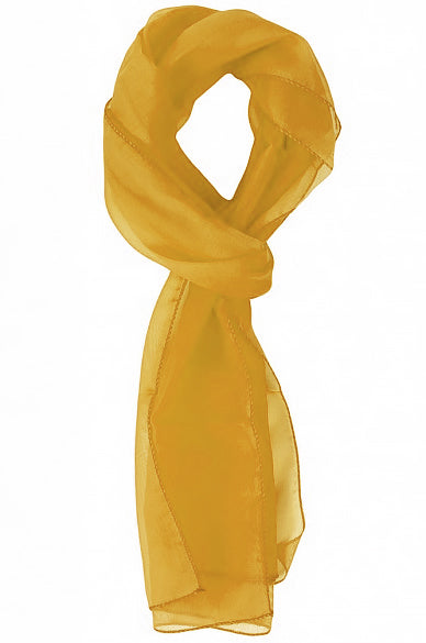Jane Solid Colored Neck Scarf Gold