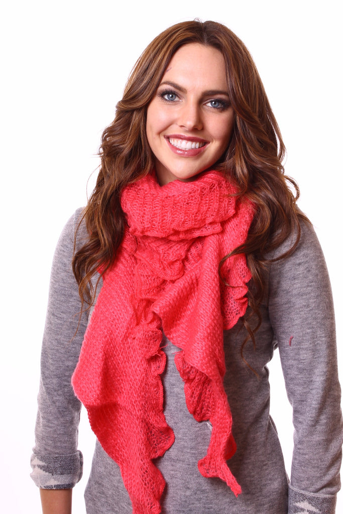 Jenny Neck Scarf Pink With Model