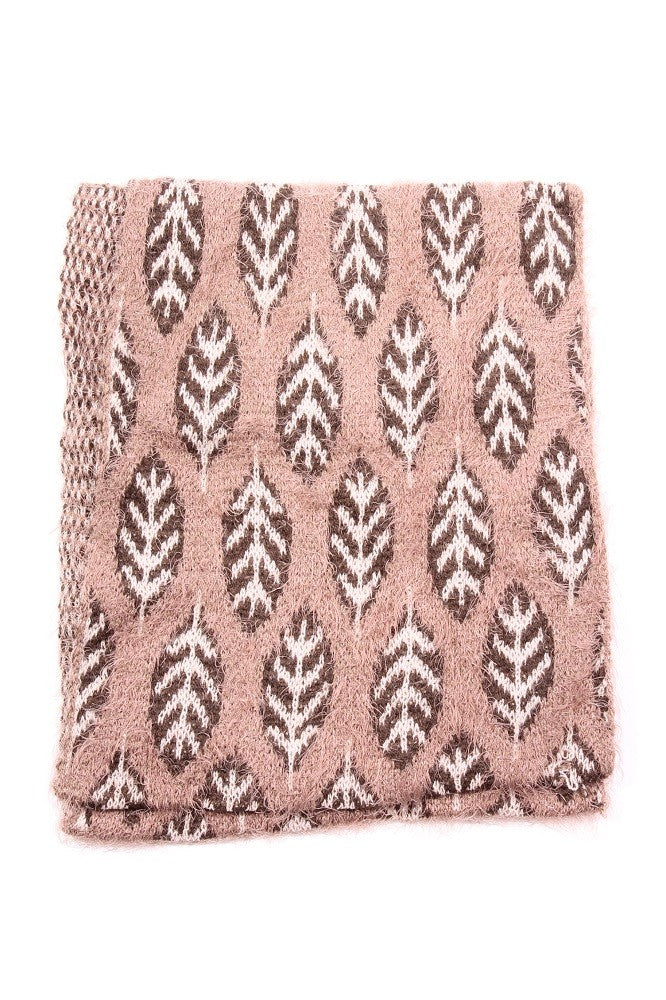 Jessica Leaf Infinity Scarf Taupe