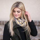 Jessica Leaf Infinity Scarf Grey With Model