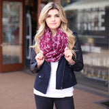 Julianne Cross Scarf Burgundy Red With Girl