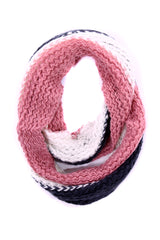 Kassy Striped Knit Infinity Scarf