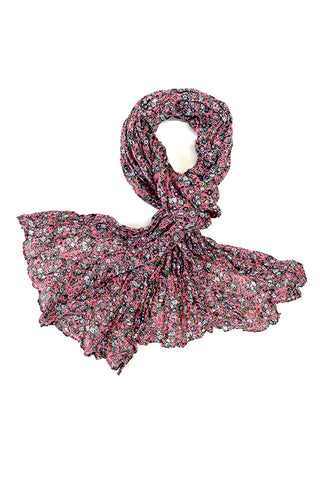 Kate Floral Crinkle Scarf Light Pink
