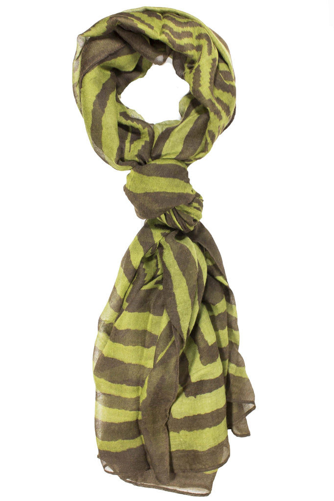 Kaylene Tribal Neck Scarve Green