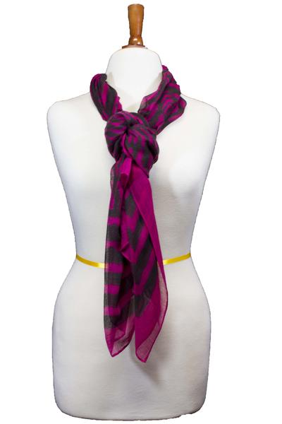 Kaylene Tribal Neck Scarve Plum