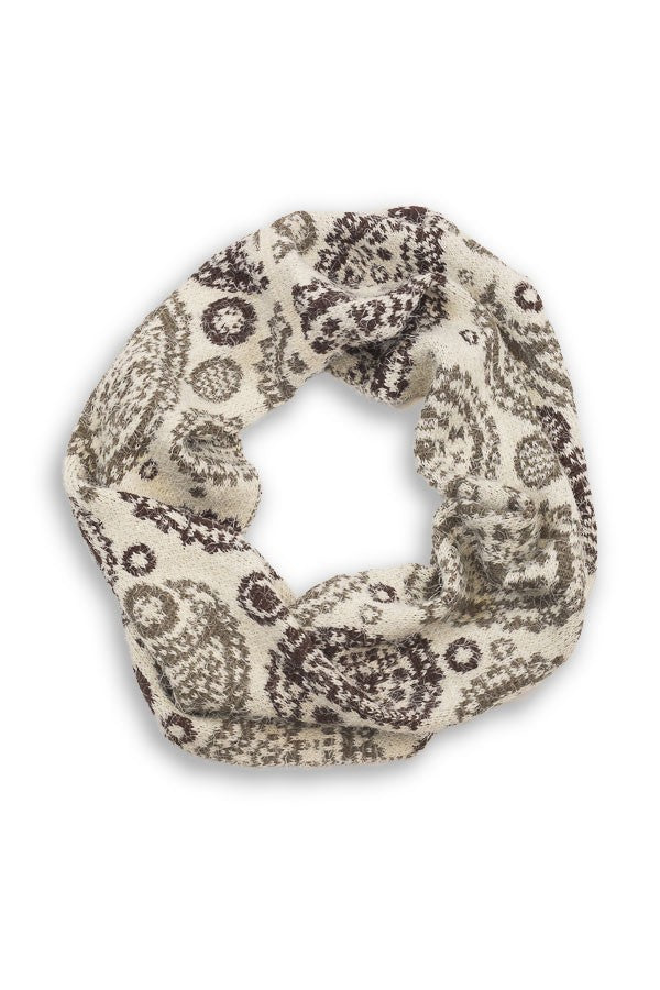Kelly Soft Finge Infinity Scarf Ivory
